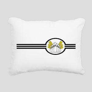 Bowling Pins Stripes Rectangular Canvas Pillow