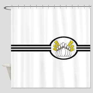 Bowling Pins Stripes Shower Curtain