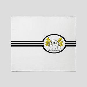Bowling Pins Stripes Throw Blanket