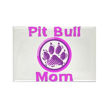 Pit Bull Mom Rectangle Magnet