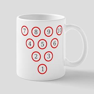 Bowling Pin Diagram Mug