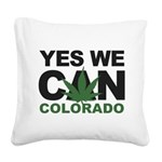Yes We Can Colorado Square Canvas Pillow