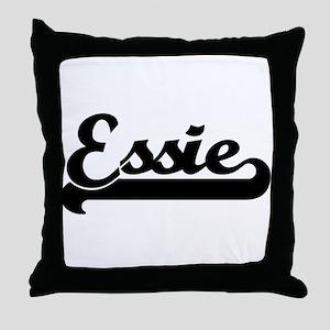 Black jersey: Essie Throw Pillow
