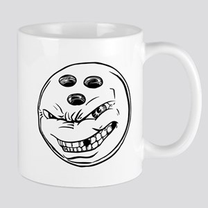 Cartoon Bowling Ball Face Mug