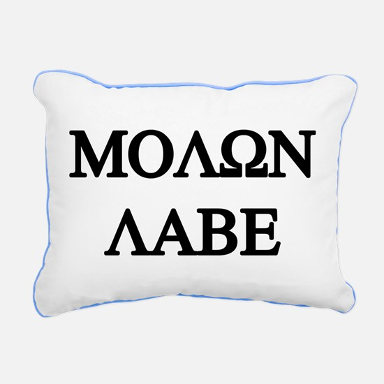 MOLON LABE Rectangular Canvas Pillow