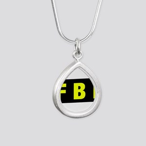 FBI 23 Silver Teardrop Necklace
