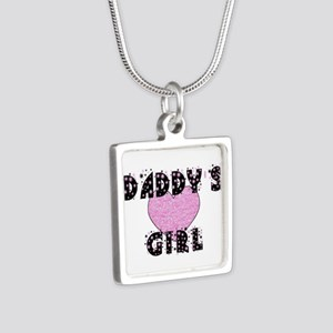 Daddys Girl Silver Square Necklace