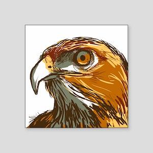 "Hawk Square Sticker 3"" x 3"""