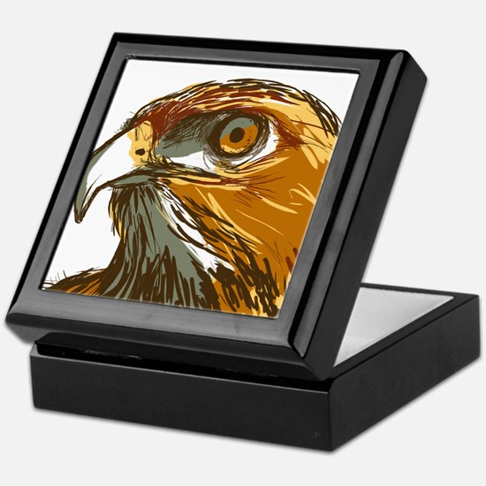 Hawk Keepsake Box
