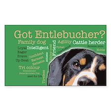 Got Entlebucher? Woof Cloud Sticker (Rectangle)