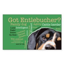 Got Entlebucher? Woof Cloud Sticker (Rectangle)