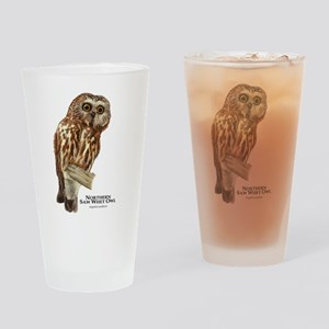 Northern Saw-Whet Owl Drinking Glass
