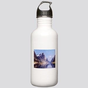A Norwegian Fjord Scene Stainless Water Bottle 1.0