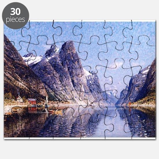 A Norwegian Fjord Scene Puzzle
