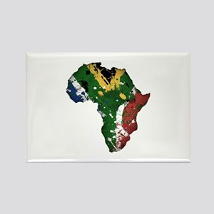 Afrika Graffiti Rectangle Magnet