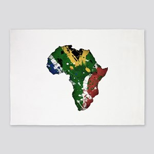 Afrika Graffiti 5'x7'Area Rug