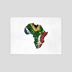Afrika Graffiti 5'x7'Area Rug