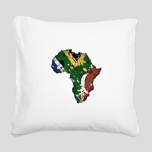 Afrika Graffiti Square Canvas Pillow