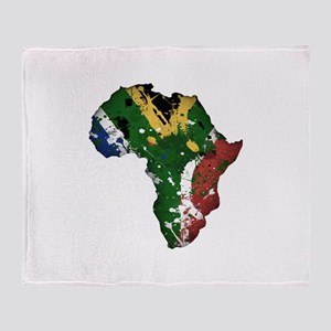 Afrika Graffiti Throw Blanket