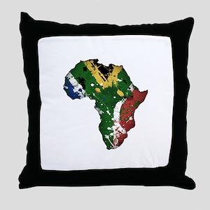 Afrika Graffiti Throw Pillow