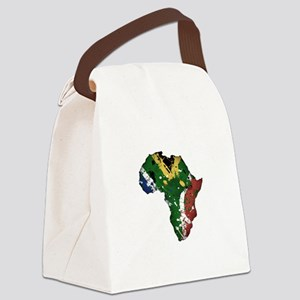 Afrika Graffiti Canvas Lunch Bag