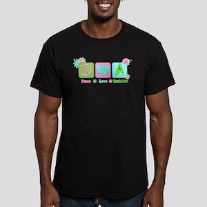 Peace Love Trekkin' Men's Fitted T-Shirt (dark)