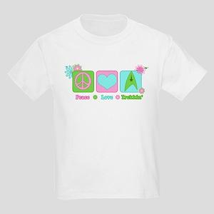 Peace Love Trekkin' Kids Light T-Shirt