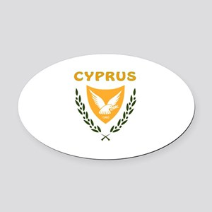 Cyprus Coat of arms Oval Car Magnet