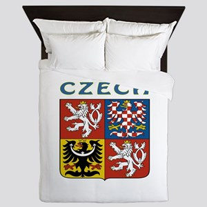 Czech Coat of arms Queen Duvet