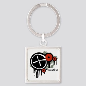 Geocaching Vector Design Square Keychain