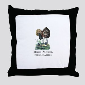 High Morel Standards Throw Pillow
