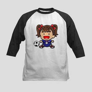 Baby Girl Soccer Player Kids Baseball Jersey