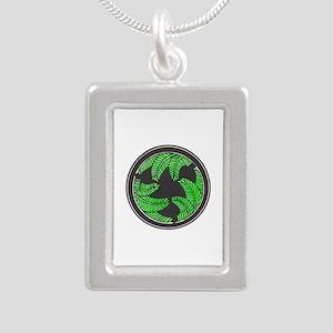 """Forest Ferns"" Silver Portrait Necklace"