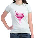 Pinkaholic Martini Jr. Ringer T-Shirt