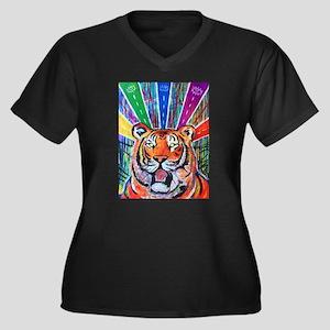 Mesmerized Women's Plus Size V-Neck Dark T-Shirt
