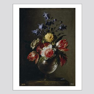 Antique Painting of a Floral Bouquet Small Poster