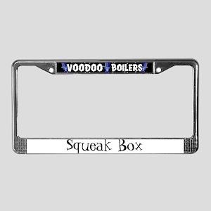 Squeak Box License Plate Frame