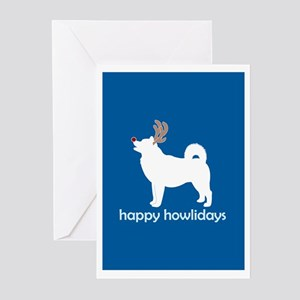 "Alaskan Malamute ""Happy Howli Greeting Cards (Pack"