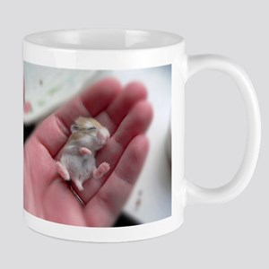 Adorable Sleeping Baby Hamster Mug