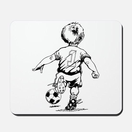 Little Soccer Player Mousepad