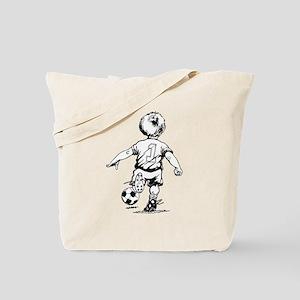 Little Soccer Player Tote Bag