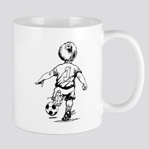 Little Soccer Player Mug