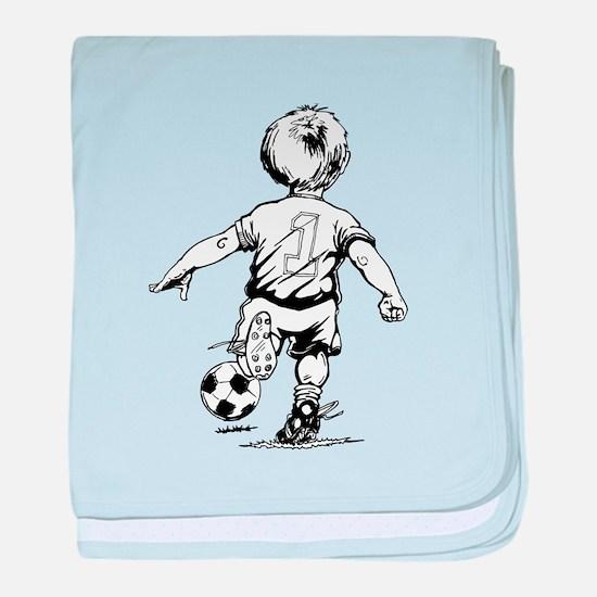 Little Soccer Player baby blanket