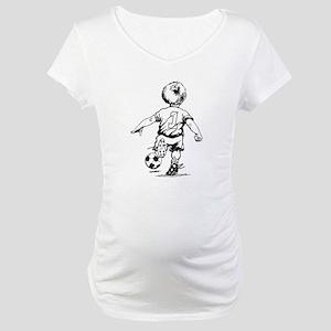 Little Soccer Player Maternity T-Shirt