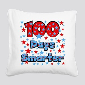 100 Days Smarter Square Canvas Pillow