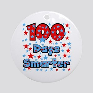 100 Days Smarter Ornament (Round)