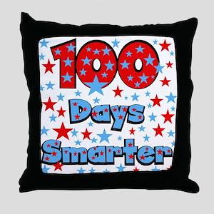 100 Days Smarter Throw Pillow