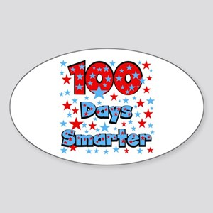 100 Days Smarter Sticker (Oval)