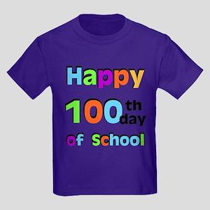 Happy 100th Day of School Kids Dark T-Shirt