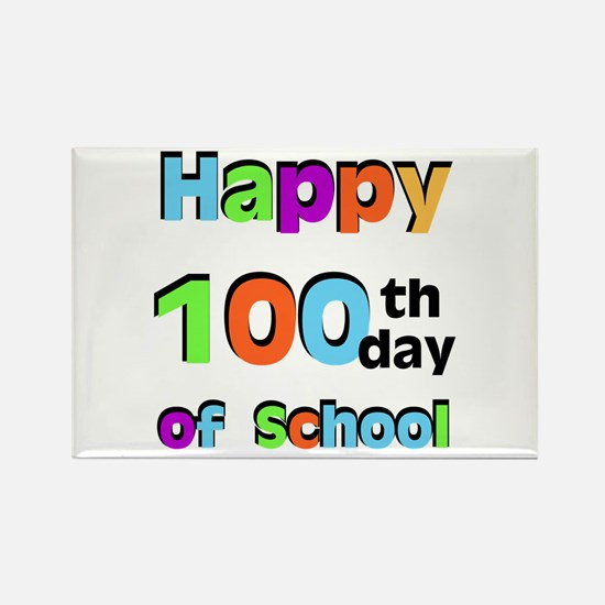 Happy 100th Day of School Rectangle Magnet